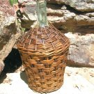 Old Woven Wicker Italian Wine Bottle Demijohn Jug 2177 ec
