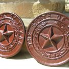 2 Cast Iron Texas Star Seal Pediments