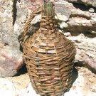 Old WOVEN WICKER Italian Wine Bottle DEMIJOHN Jug 0723 ec