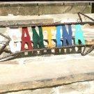 Recycled Junk Iron Metal Art Cantina Sign Arrow ec