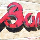 Recycled Junk Iron BAR sign man cave party room 0690 ec