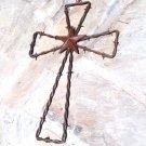 Rustic Barbed Wire Star Southwestern Wall Cross 0604 ec