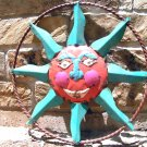 Recycled Junk Iron Sun Face Wall Hang Garden Art Sign 0634 ec