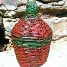 OLD Demijohn WICKER Italian Wine Bottle JUG 169 ecrater
