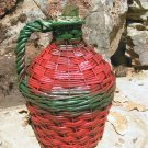 Vintage WICKER Italian Wine Bottle Jug Old Demijohn 0693 ec