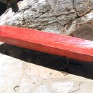 Large Red Wooden Bread Dough Bowl bread Trencher on Iron Stand 0910