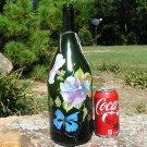Old Champagne bottle art piece Signed ec