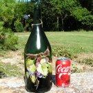 Old Heavy Champagne bottle art piece Signed ec
