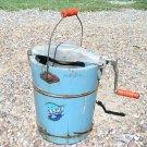 Vintage Ice Cream Maker wood bucket Hand crank freezer ec