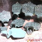 EIGHT Cast Iron Beer O' Clock Bottle Openers Old Style