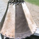 Cowhide Leather Lamp Shade Rustic Western 1334 ec