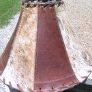 Leather Cowhide Lamp Shade Brown Western 1441 ec