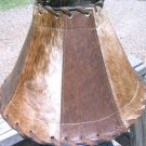 Large Western Lamp shade Leather Cowhide 0947 ec