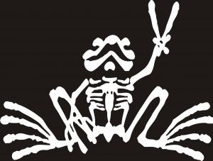 PEACE FROG DECAL