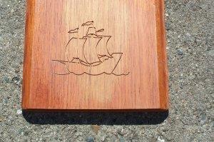 "Tall sailing ship 3"" x 4"""