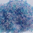 Vintage Ocean Blue Mix Fire Polish Czech Glass Bead 3mm