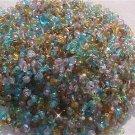300 Vintage Green Aqua Mix Fire Polish Czech Glass Beads 3mm