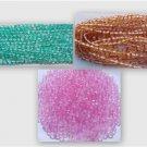 300 Vintage 4mm 3 Color Mix Fire Polish Czech Glass Bead 2 Tone