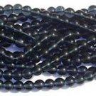 8mm Montana Blue Czech Glass Druk Bead 100
