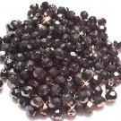 Vintage Hematite Fire Polish Polished Czech Glass Round Bead 10mm 80