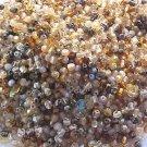 300 Vintage Brown Gold Mix Fire Polish Czech Glass Beads 3mm
