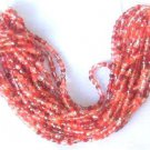 300 Red Mix Color Fire Polish Czech Glass Beads 3mm with 2 Tone Color