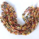 300 Autumn Mix Color Fire Polish Czech Glass Beads 3mm with 2 Tone Color