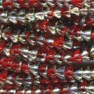 50 Czech Glass Ruby Vitrail Bell Flowers Beads 6 x 8mm