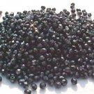 Gray Black Hematite Color Fire Polish Czech Glass Beads 3mm