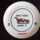 1907 Ford Model K collector plate