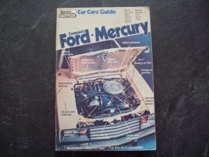 Compacts Ford / Mercury car care guide book