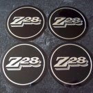 Chevy Camaro Z/28 wheel emblem inserts New