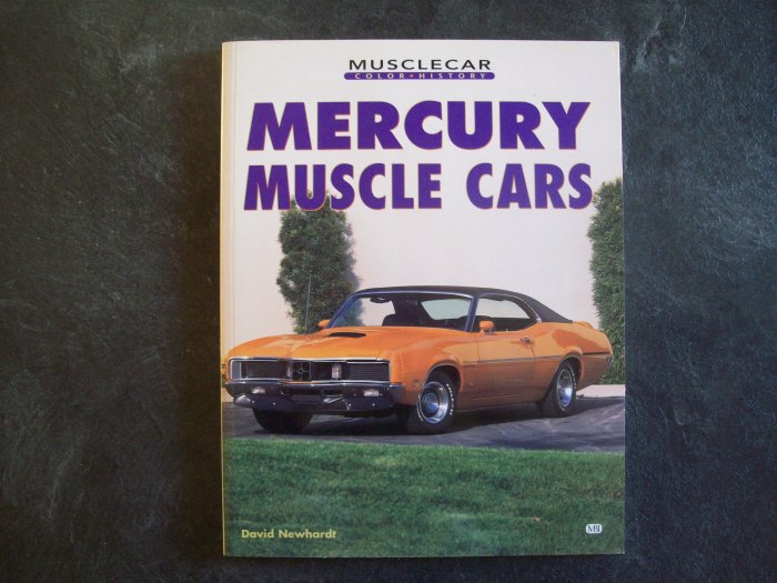 Mercury Muscle Cars book-New