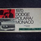 1970 Dodge Polara/Monaco owners manual