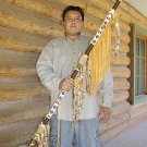 Native American Indian Ceremonial Beaded Leather Spear Lance