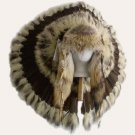 Native American Indian Traditional Warbonnet Headdress with Coyote Fur