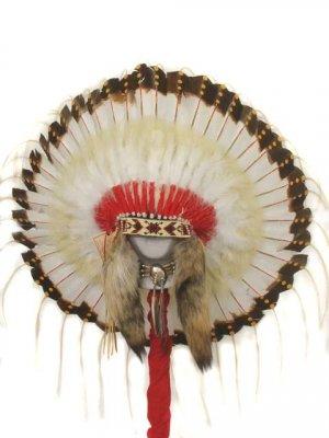 1875-Era Native American Indian Traditional Warbonnet Headdress
