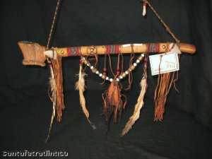 Native American Indian Beaded Antler Ceremonial Peace Pipe