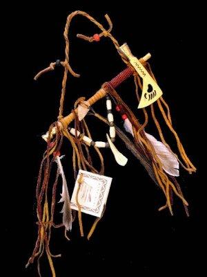 Native American Indian Beaded Tomahawk Peace Pipe