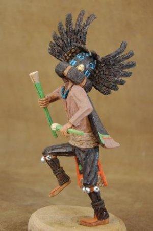 Native American Hopi Indian Carved Kachina Doll Crow