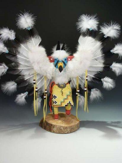 Native American Navajo Indian Carved Kachina Doll Eagle Dancer