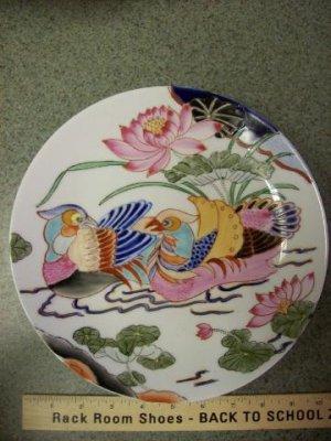 Macau China Painted Birds Plate
