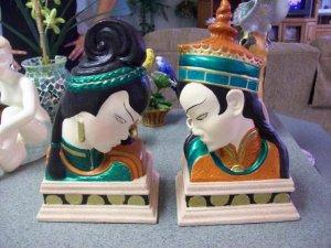 Handmade Asian Statue Bookends