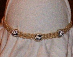 HEMP SOCCER BALL NECKLACE