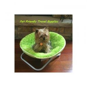 Flipo Comfort Suspension Bed Round Fuzzy Pet Moon Chair
