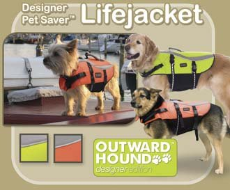 Outward Hound Pet Saver Dog Life Jacket Vest - Designer Series - Medium