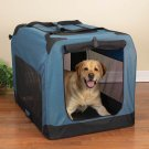 Large Guardian Gear Soft-Sided Collapsible Dog Crate Kennel BLUE