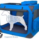 Medium Pet Gear Deluxe Soft Crate, Generation II - Blue Sky holds up to 70 lbs.