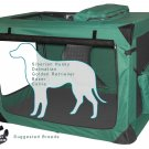 Large Pet Gear Deluxe Soft Crate, Generation II - Moss Green holds pets up to 90 lbs.
