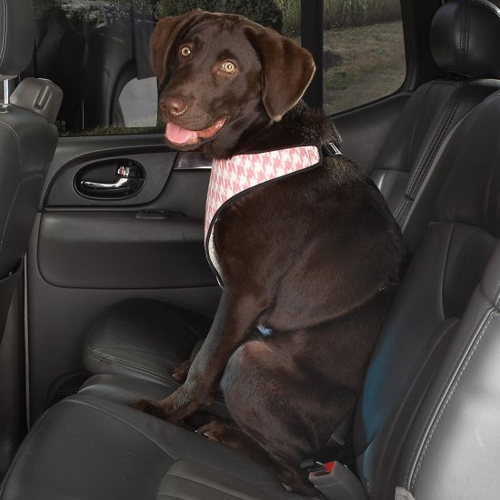 Cruising Companion Houndstooth Auto Car Safety Dog Harness X-Large